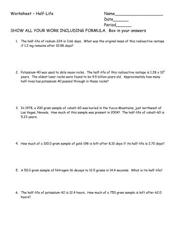 Worksheet – Boyle\'s Law, Charles\'s Law ...