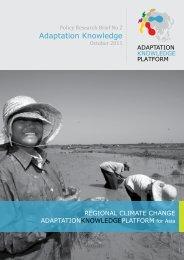 Policy Research Brief No 2 Adaptation Knowledge - Regional ...