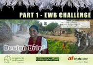 2011 EWB Challenge Design Brief - Engineers Without Borders UK