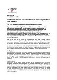 Beleid zware metalen van basisscholen uit vervuilde gebieden in ...