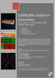 Newsletter - Eastern Mediterranean Health Genomics and ...