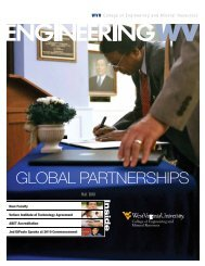 global partnerships - WVU College of Engineering and Mineral ...