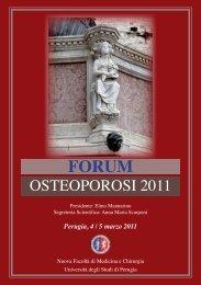 OSTEOPOROSI 2011 - Facoltà di Medicina e Chirurgia - Università ...