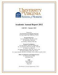 Academic Annual Report 2011-2012 - School of Nursing - University ...