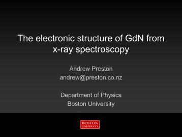 The electronic structure of GdN from x-ray spectroscopy