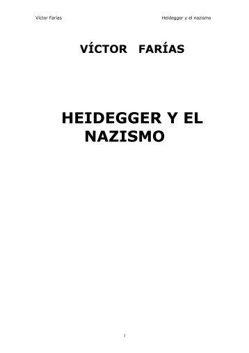 Farias Victor, Heidegger y el nazismo