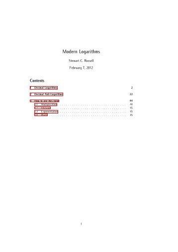 Russell's Modern Logarithms [PDF] - Scruss