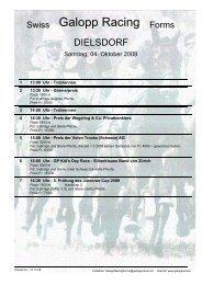 4. Oktober 2009 DIELSDORF Rennen 2 - Galopp Racing Forms
