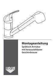 Spültischarmatur mit Geschirrbrause.indd - Franz Joseph Schütte ...