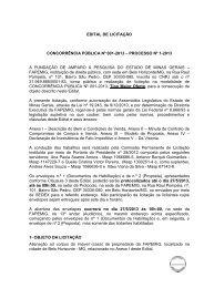 edital de licitação concorrência pública nº 001-2013 ... - Fapemig