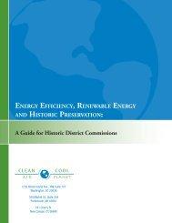 Energy Efficiency, Renewable Energy and Historic Preservation