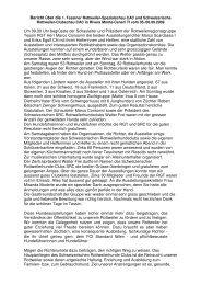 Bericht -374ber die 1. Tessiner- und SRC Clubschau 2009