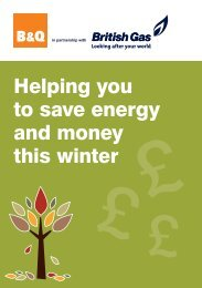 Helping you to save energy and money this winter