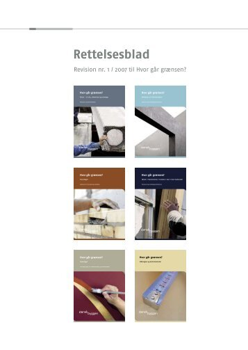 Rettelsesblad 1 (pdf) - Tolerancer