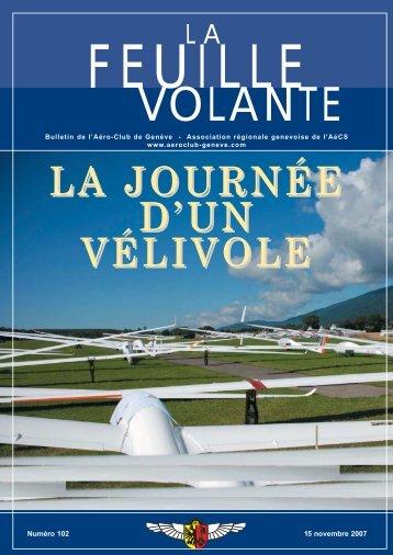 LA JOURNÉE D'UN VÉLIVOLE - Aeroclub de Genève