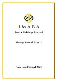 Imara Holdings Limited Group Annual Report ... - Investing In Africa