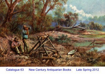 Catalogue 63 New Century Antiquarian Books Late Spring 2012