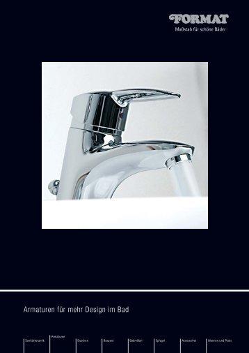 Armaturen für mehr Design im Bad - PRIER