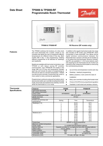 datasheet ret b battery powered room thermostat