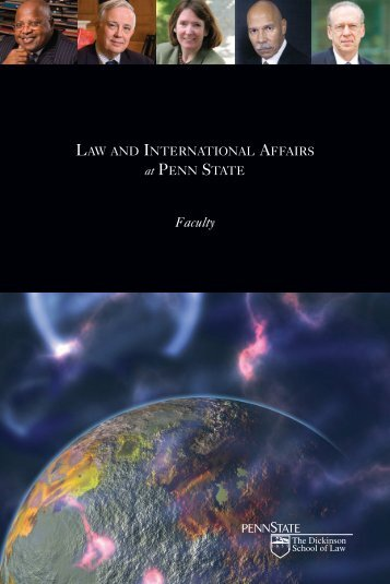 Law and International Affairs faculty brochure. - Giving to Penn State