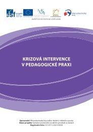 krizová intervence v pedagogické praxi - Moravskoslezský kraj