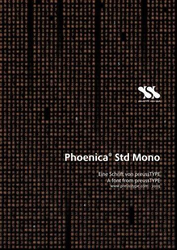 Phoenica® Std Mono - preussTYPE
