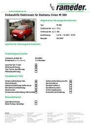 Einbauhilfe Elektrosatz für Daihatsu Sirion M 300