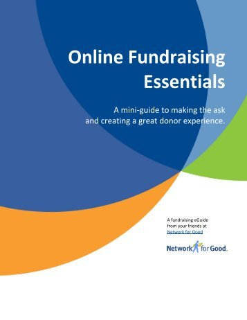 Online Fundraising Essentials - Network for Good Learning Center