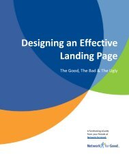 Designing an Effective Landing Page - Network for Good Learning ...