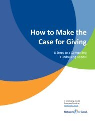How to Make the Case for Giving - Network for Good Learning Center