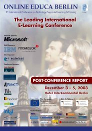 Postreport Online Educa Berlin 2003