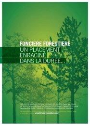 Plaquette commerciale - Foncière Forestière
