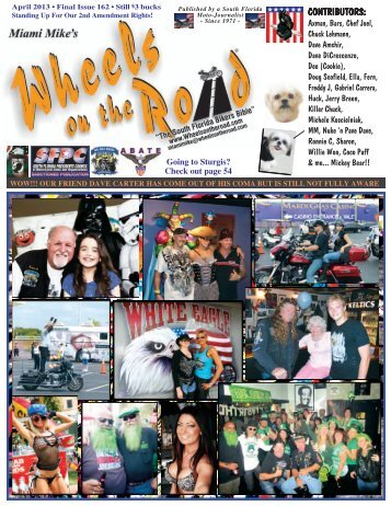 April 2013 • Issue #162 - Wheels on the Road Magazine