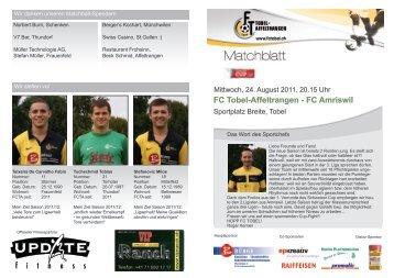 Matchblatt - FC Tobel-Affeltrangen