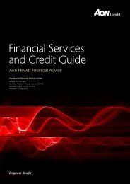 Financial Services and Credit Guide - Aon Australia