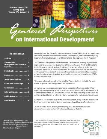 Gendered Perspectives - Center for Gender in Global Context ...