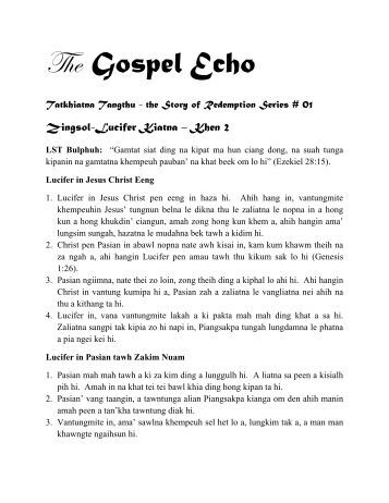 SR Series # 01 Lucifer - The Gospel Echo Ministry
