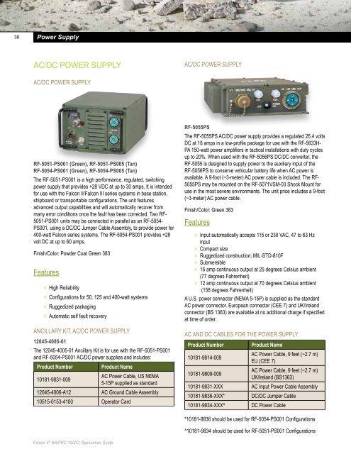 38 Power Supply AC/DC Pow