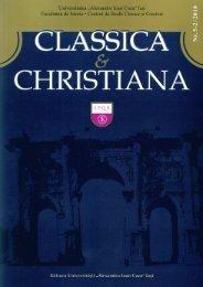 Classica et Christiana - Facultatea de Istorie - Universitatea ...