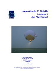 Hotair-Airship AS 105 GD Supplement Night Flight Manual - Gefa-Flug
