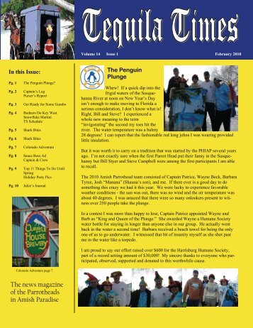 February 2010 Newsletter PDF - Parrot Heads in Amish Paradise