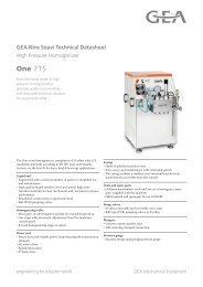 GEA Niro Soavi One7TS Tech Sheets ENG Rev05 2012
