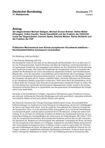 Rechtsstaatsinitiative konsequent vorantreiben - CSU-Landesgruppe