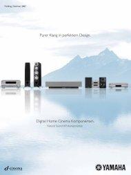 Purer Klang in perfektem Design. Digital Home Cinema Komponenten.