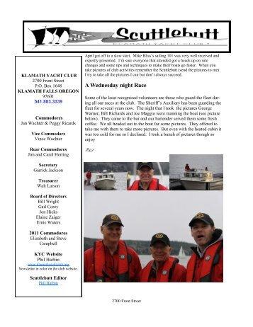 A Wednesday night Race - Klamath Yacht Club