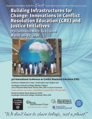 2010 Conference Program - Conflict Resolution Education Connection