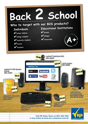 Back 2 School Who to target with our B2S products? - VIP Computers