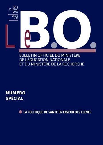 NUMÉRO S P É C I A L - Ministère de l'Éducation nationale