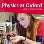 to download our brochure - University of Oxford Department of Physics