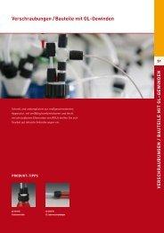 Verschraubungen / Bauteile mit GL-Gewinden - Laboratoriumglas